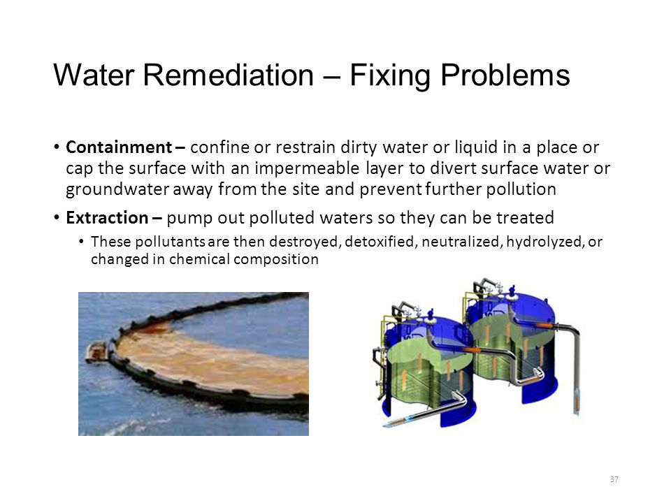 Water Remediation – Fixing Problems
