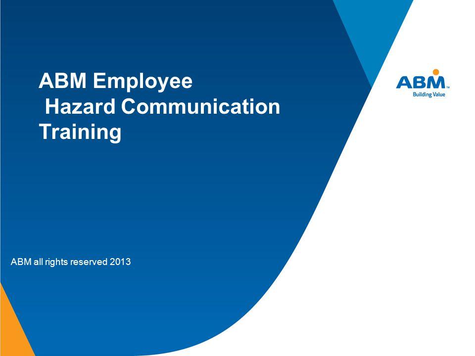 ABM Employee Hazard Communication Training