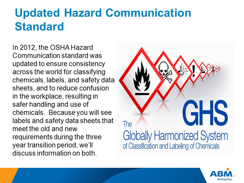 Updated Hazard Communication Standard