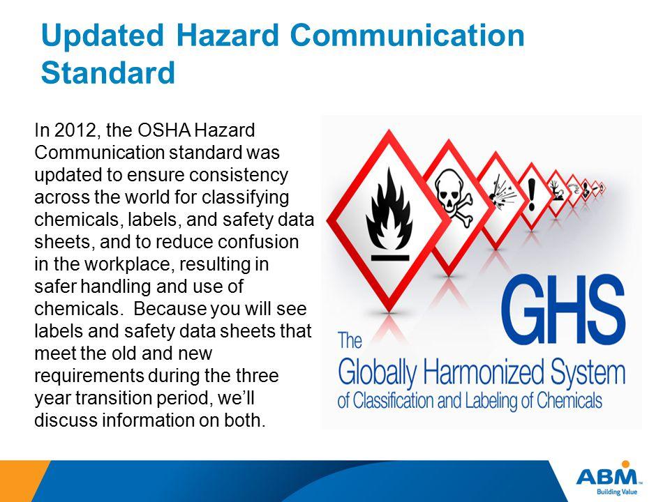 Updated Hazard Communication Standard
