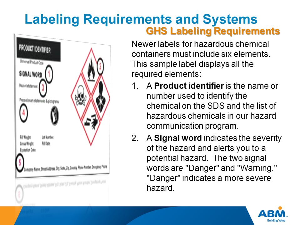 Labeling Requirements and Systems