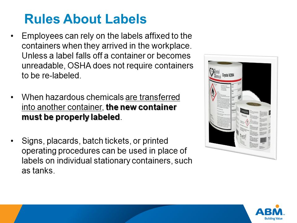 Rules About Labels