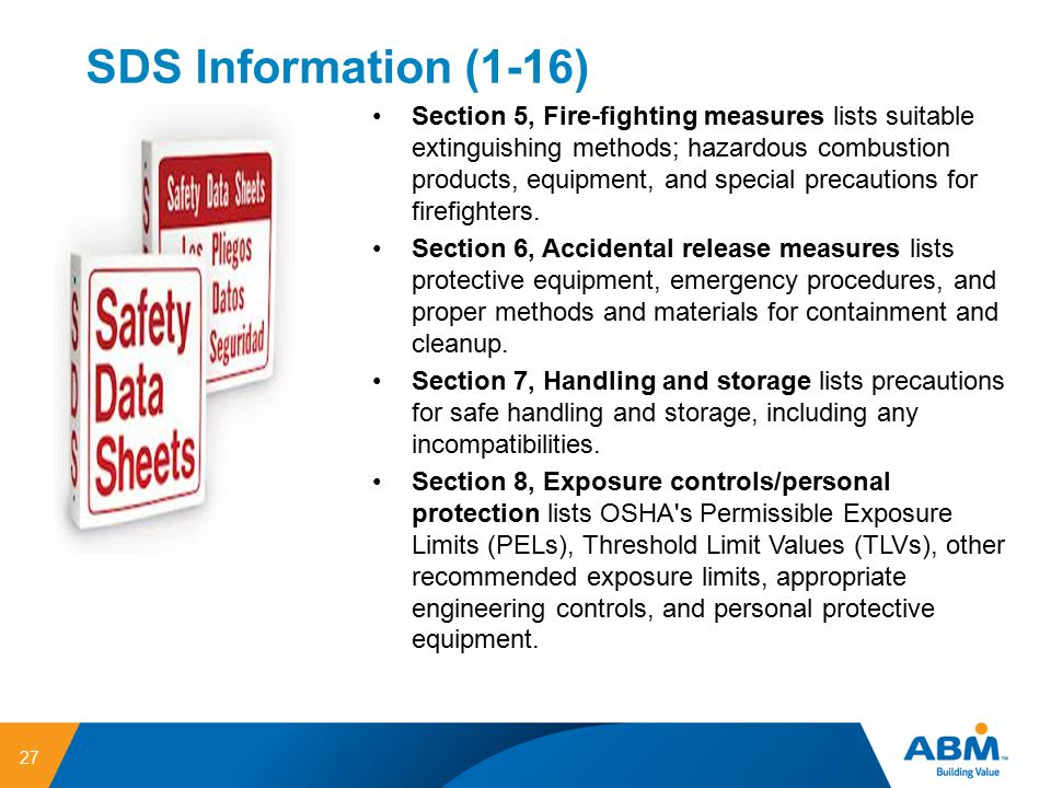 SDS Information (1-16)