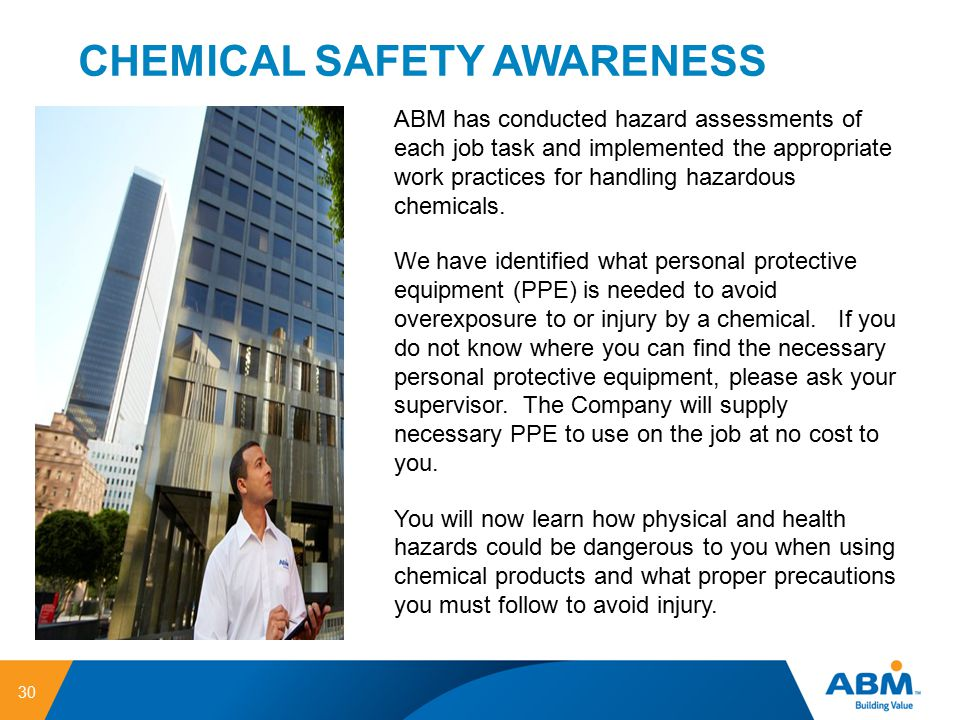 CHEMICAL SAFETY AWARENESS