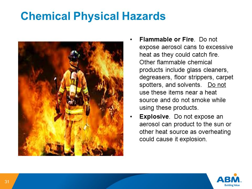 Chemical Physical Hazards