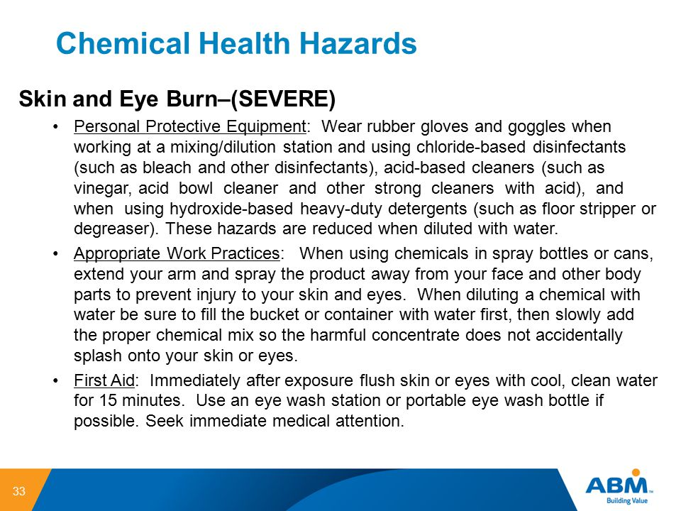 Chemical Health Hazards
