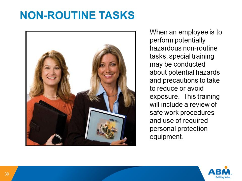 NON-ROUTINE TASKS