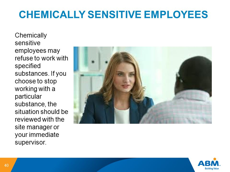 CHEMICALLY SENSITIVE EMPLOYEES