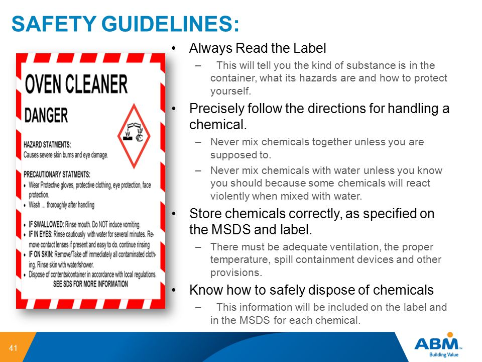 SAFETY GUIDELINES: Always Read the Label