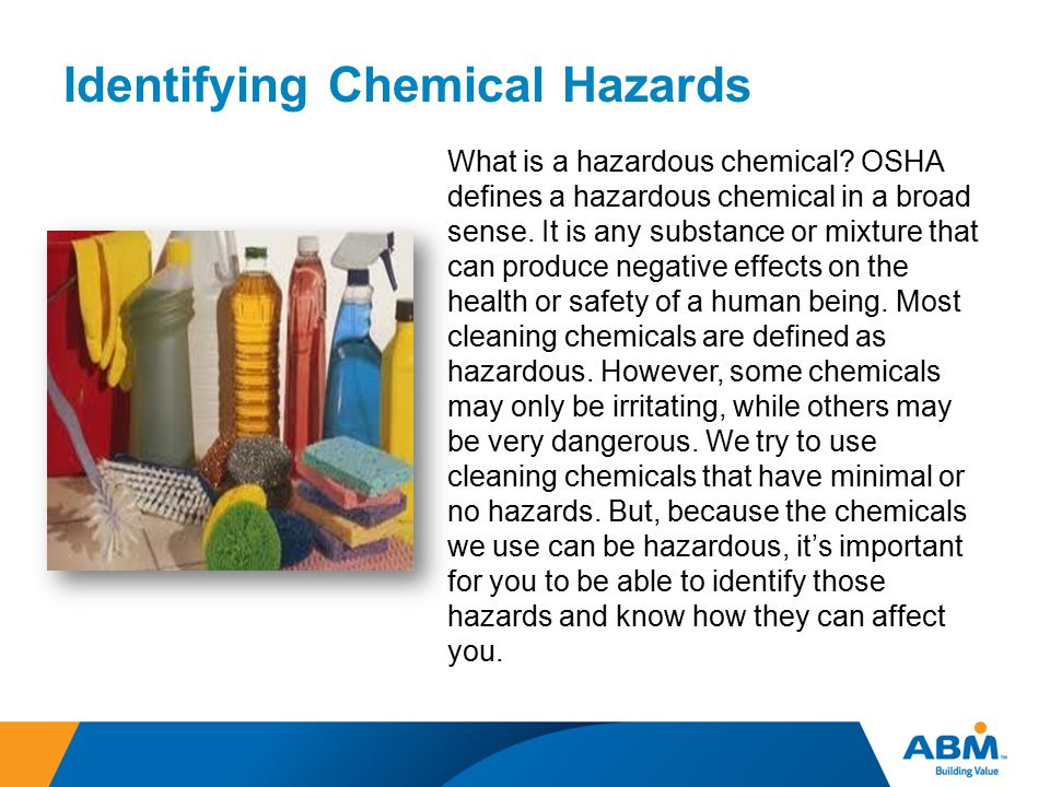 Identifying Chemical Hazards