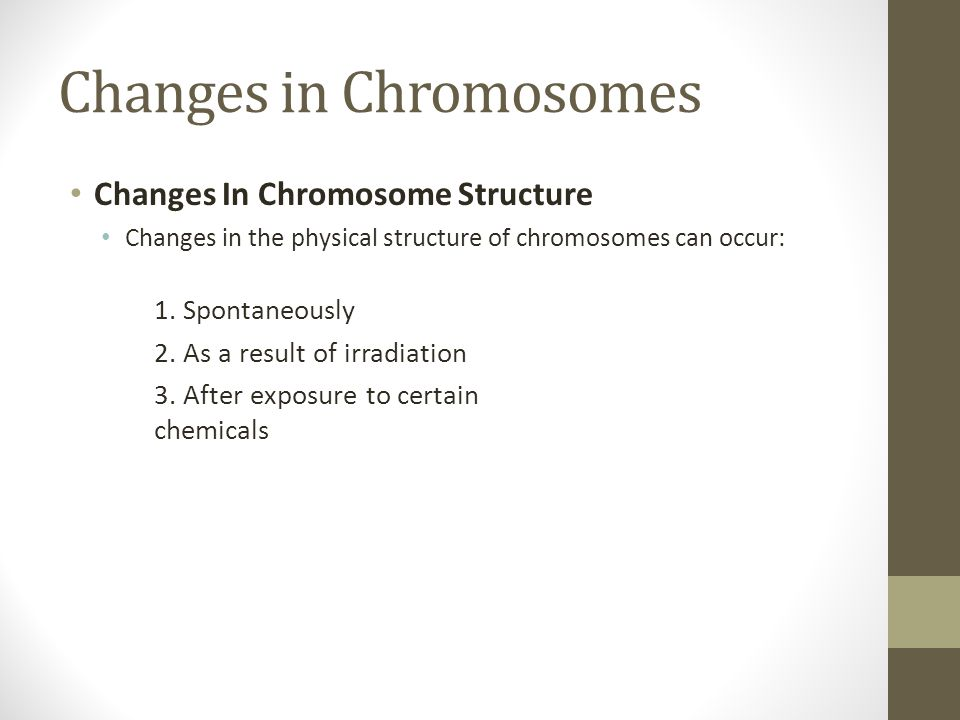 Changes in Chromosomes