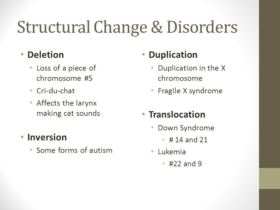 Structural Change & Disorders