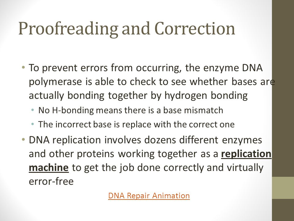 Proofreading and Correction