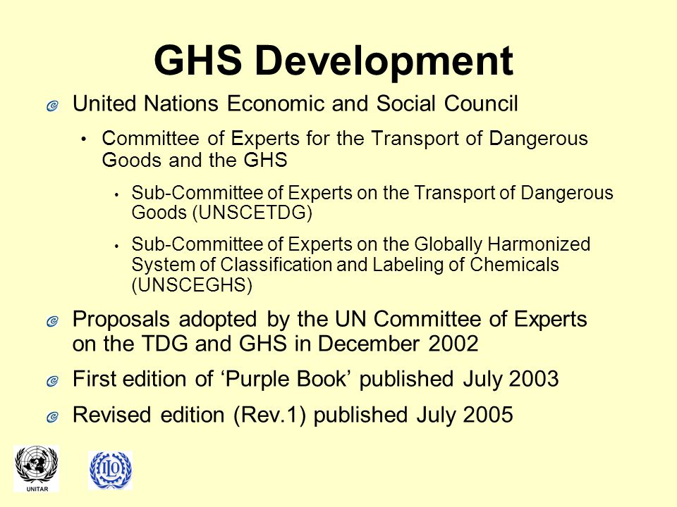 GHS Development United Nations Economic and Social Council