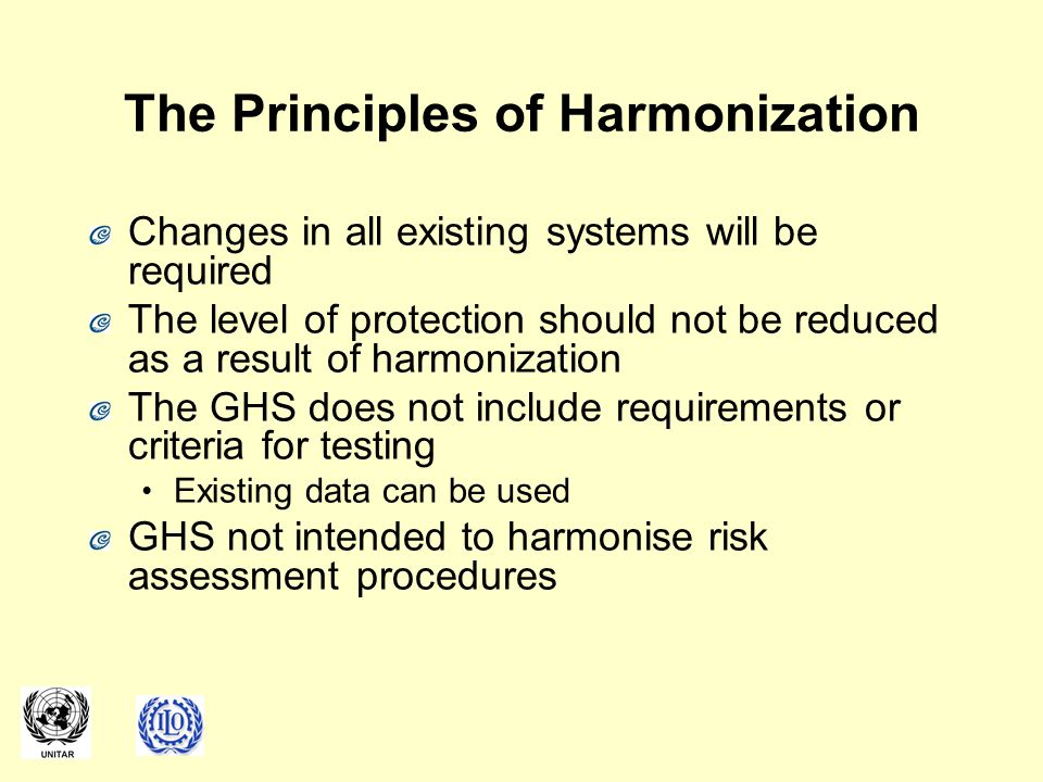 The Principles of Harmonization