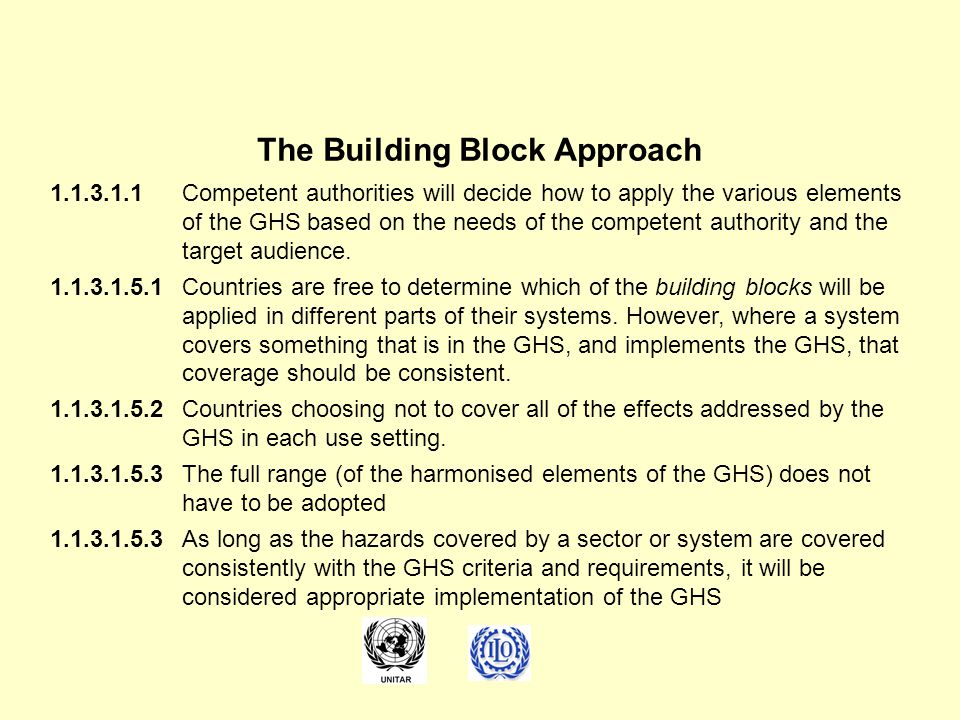 The Building Block Approach