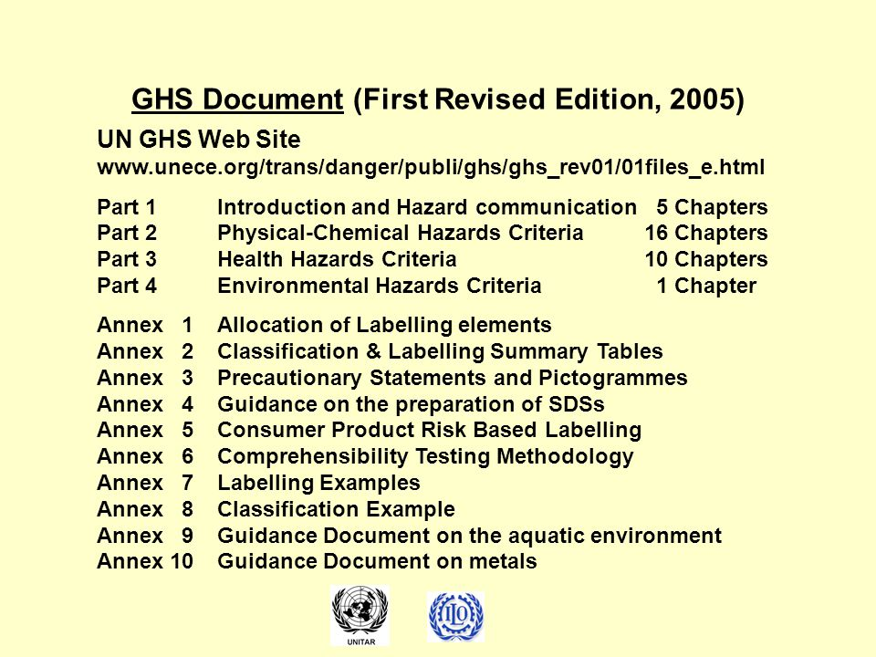 GHS Document (First Revised Edition, 2005)