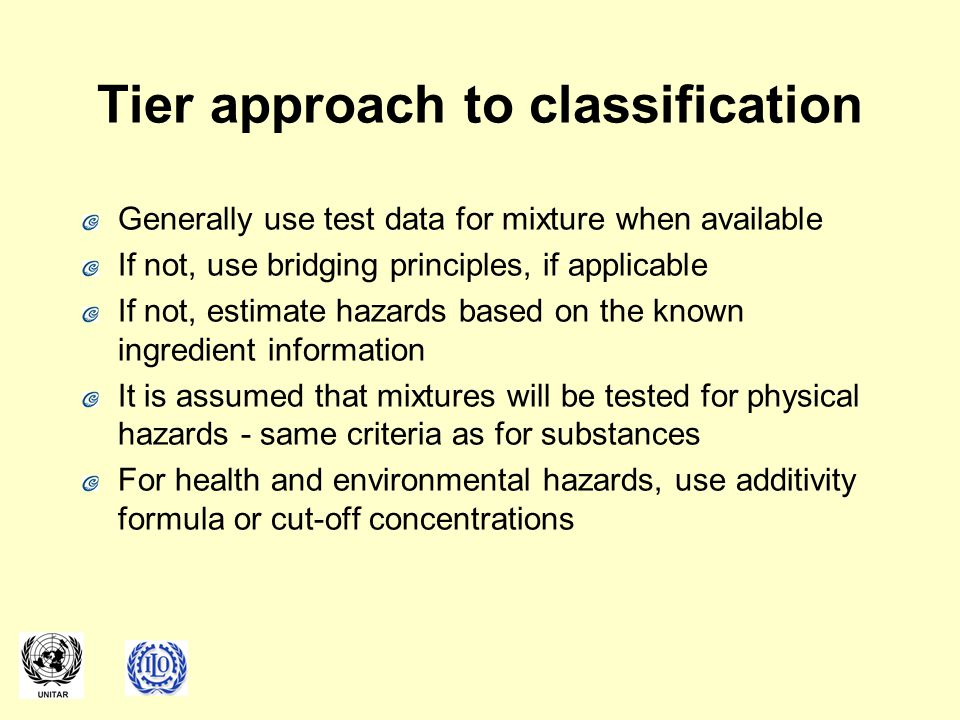 Tier approach to classification