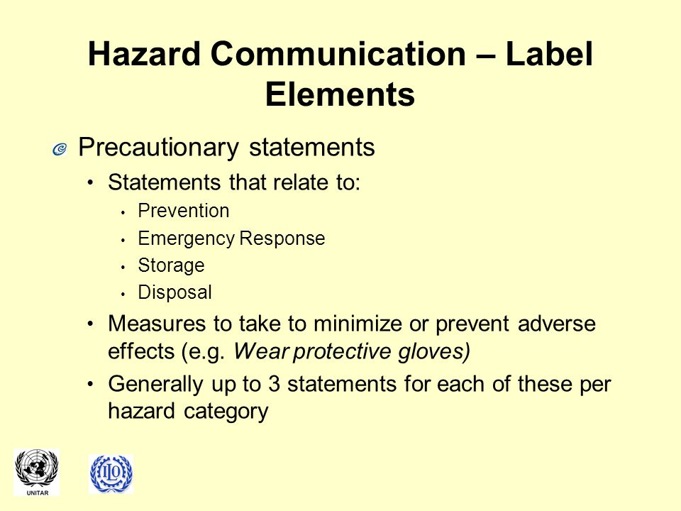 Hazard Communication – Label Elements