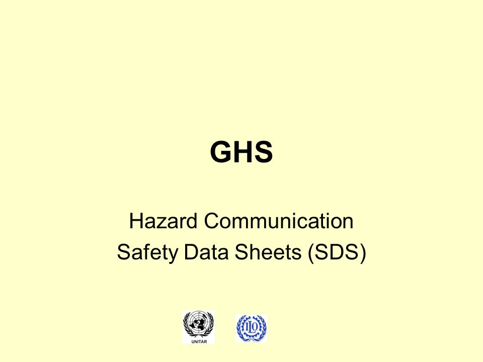 Hazard Communication Safety Data Sheets (SDS)