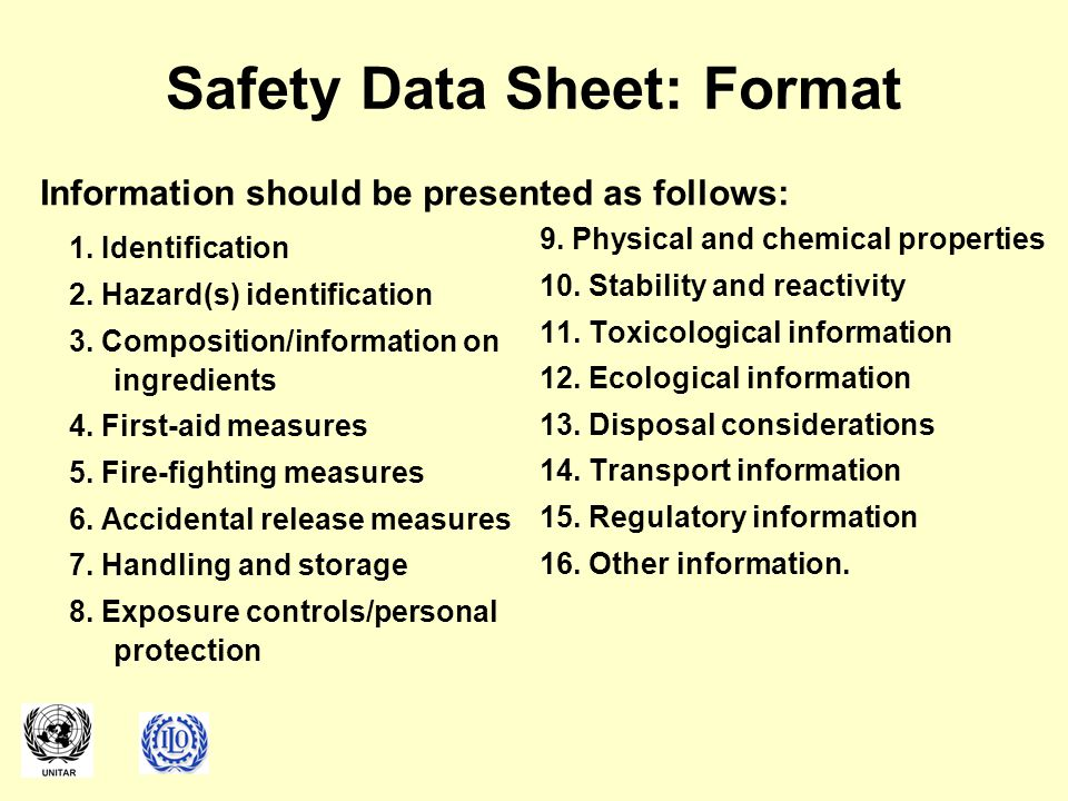 Safety Data Sheet: Format