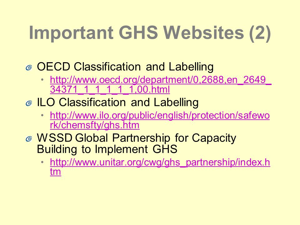 Important GHS Websites (2)