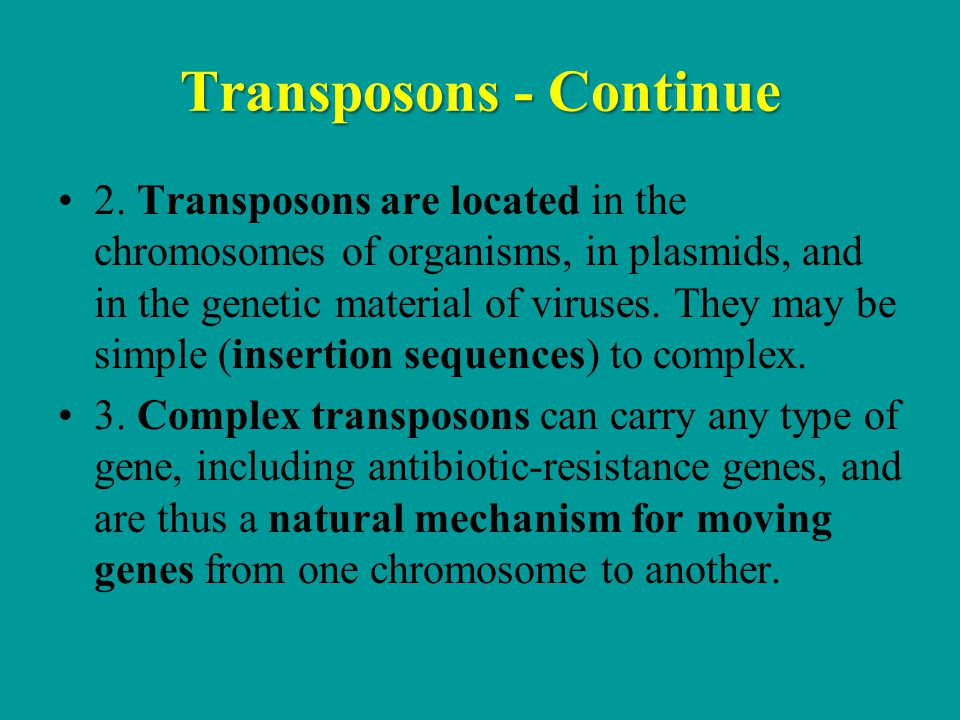 Transposons - Continue