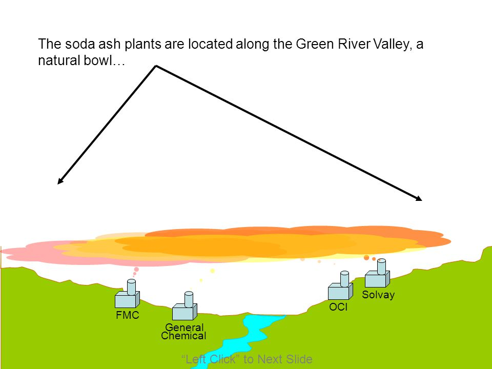 The soda ash plants are located along the Green River Valley, a natural bowl…