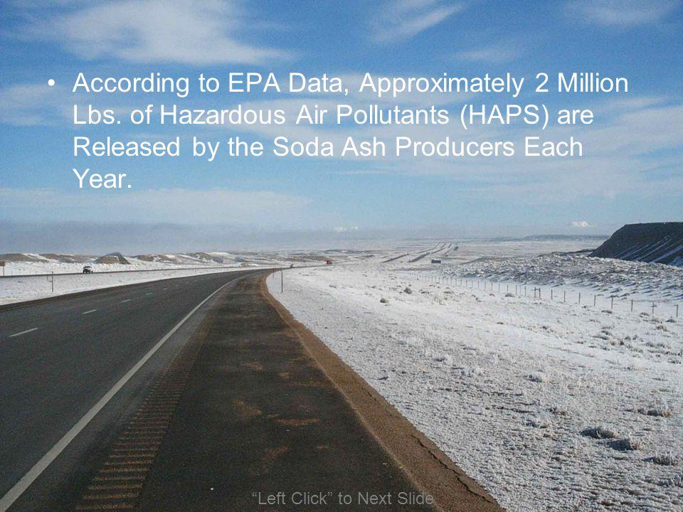 According to EPA Data, Approximately 2 Million Lbs