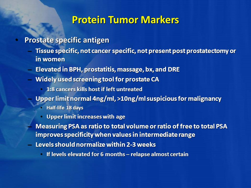 Protein Tumor Markers Prostate specific antigen