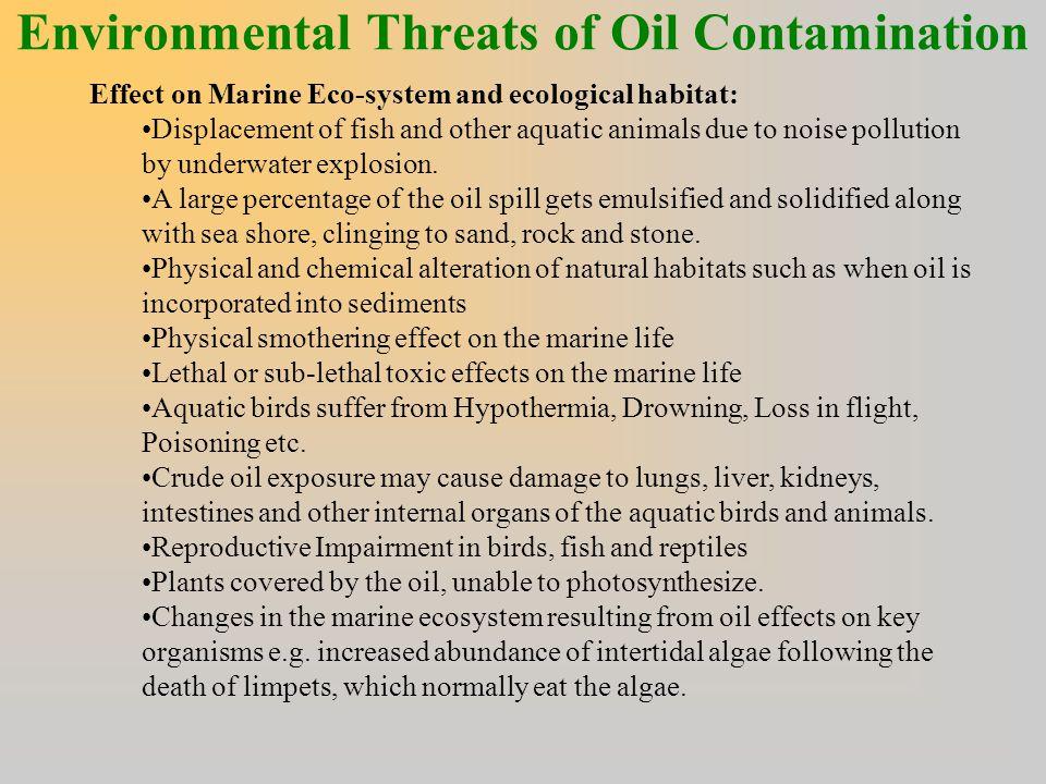 Environmental Threats of Oil Contamination