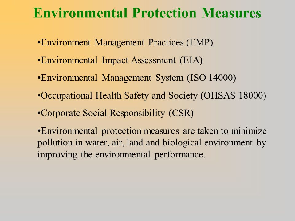 Environmental Protection Measures
