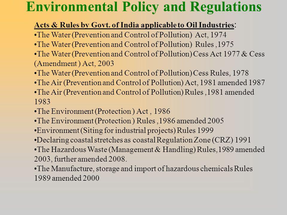 impact of environmental regulations on industry
