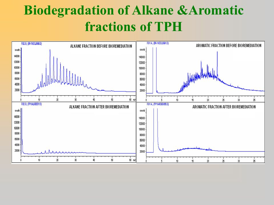 Biodegradation of Alkane &Aromatic fractions of TPH