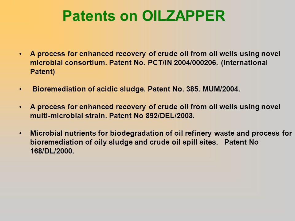 Patents on OILZAPPER