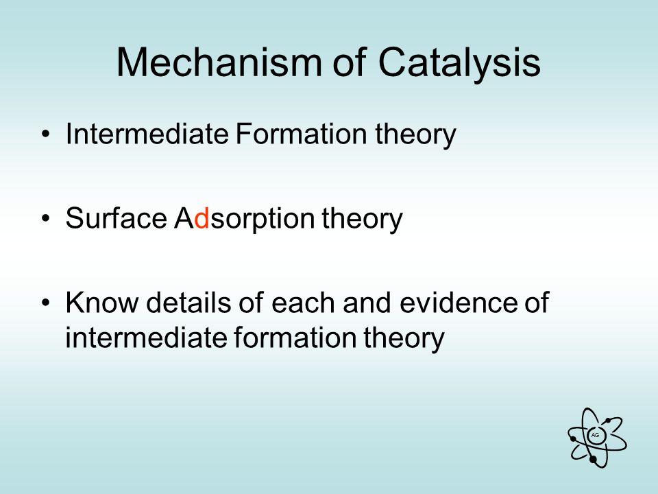 Mechanism of Catalysis