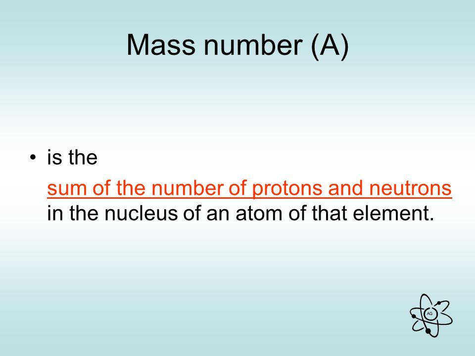 Mass number (A) is the.