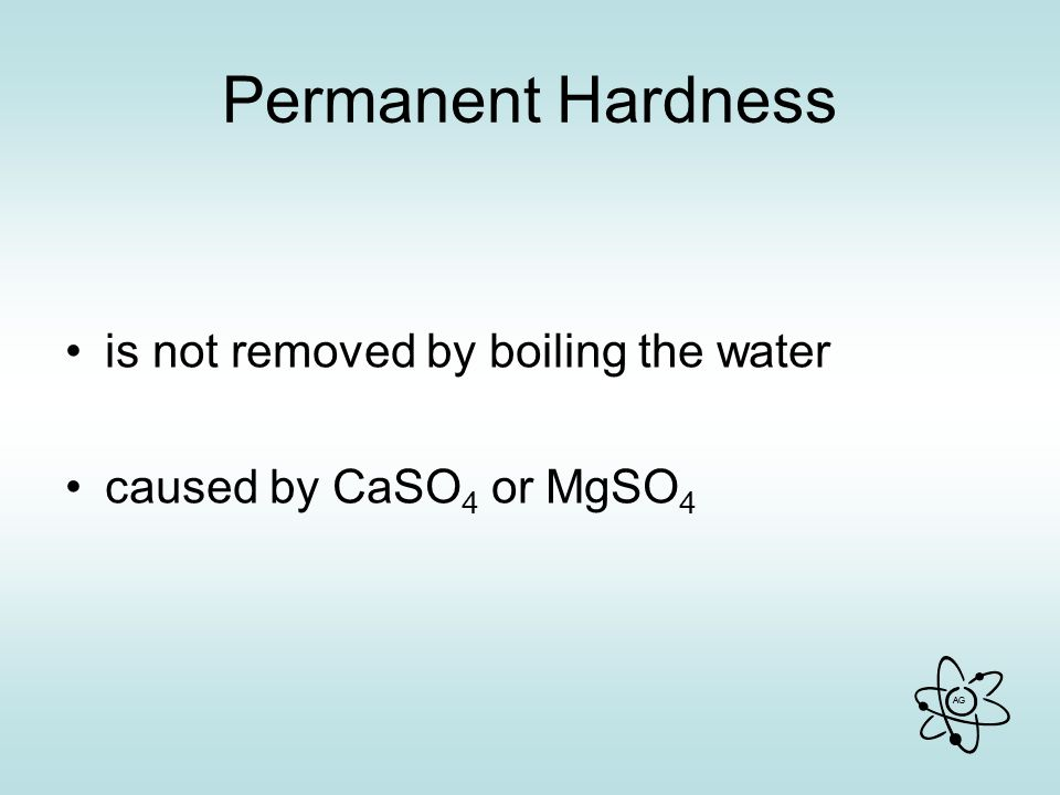 Permanent Hardness is not removed by boiling the water