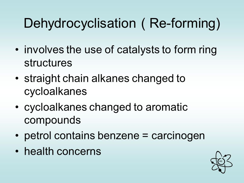 Dehydrocyclisation ( Re-forming)