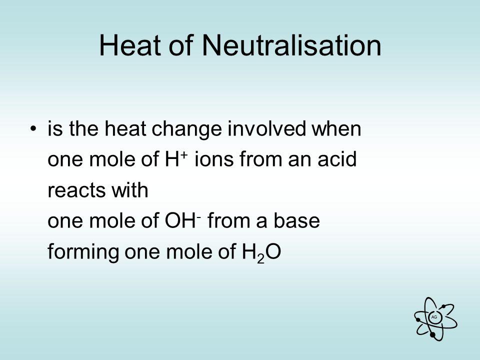 Heat of Neutralisation