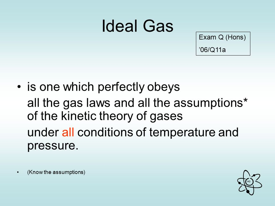 Ideal Gas is one which perfectly obeys