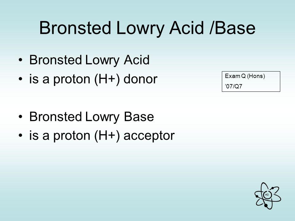 Bronsted Lowry Acid /Base