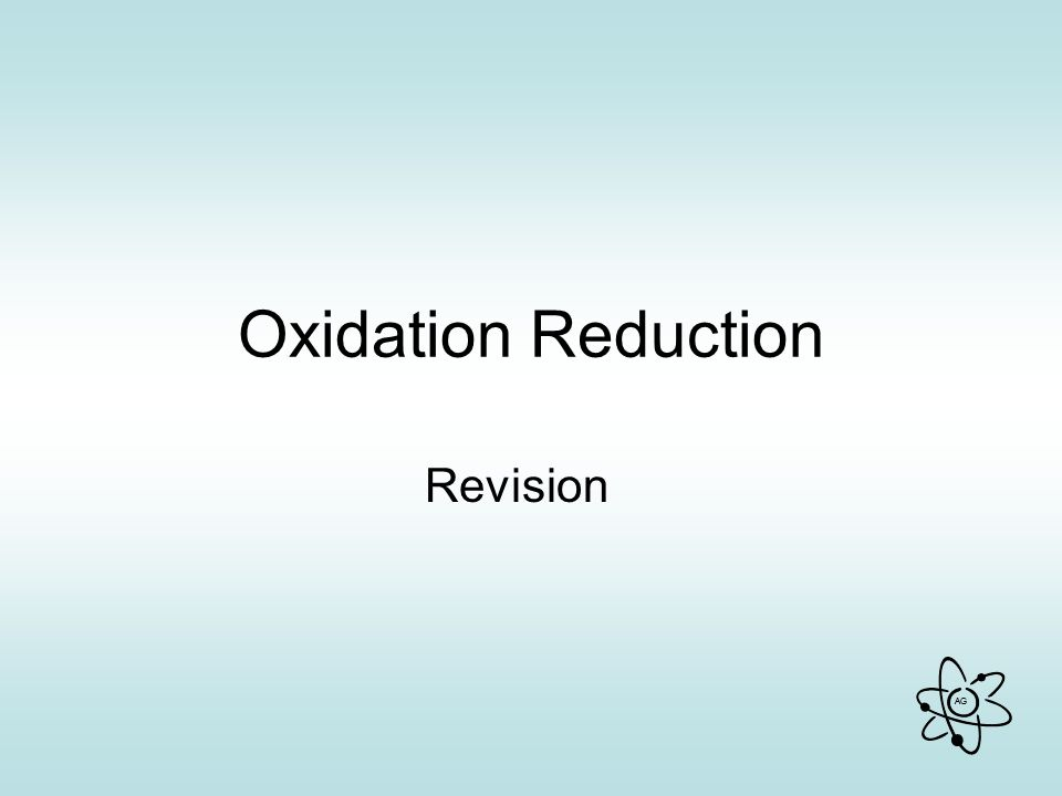 Oxidation Reduction Revision