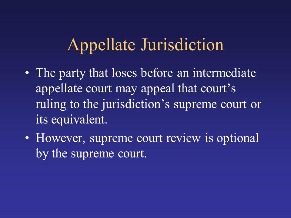 Appellate Jurisdiction