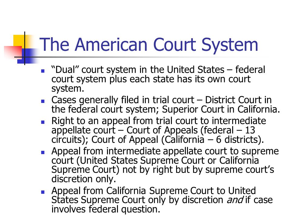 The American Court System