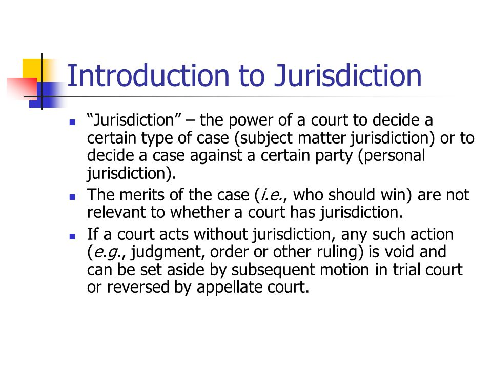 Introduction to Jurisdiction