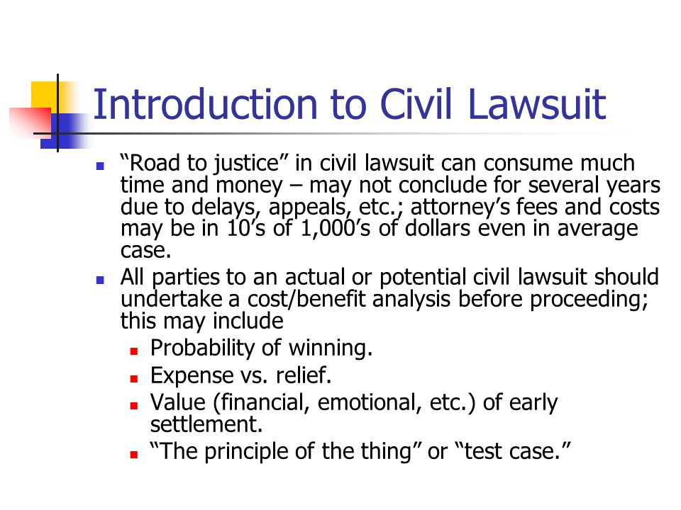 Introduction to Civil Lawsuit