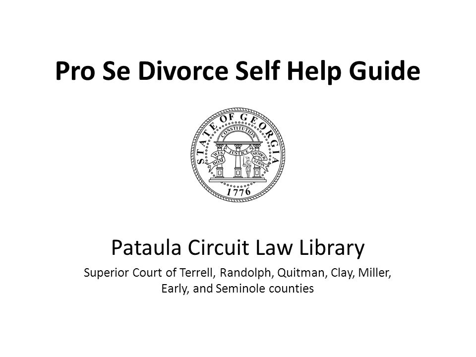 Pro Se Divorce Self Help Guide