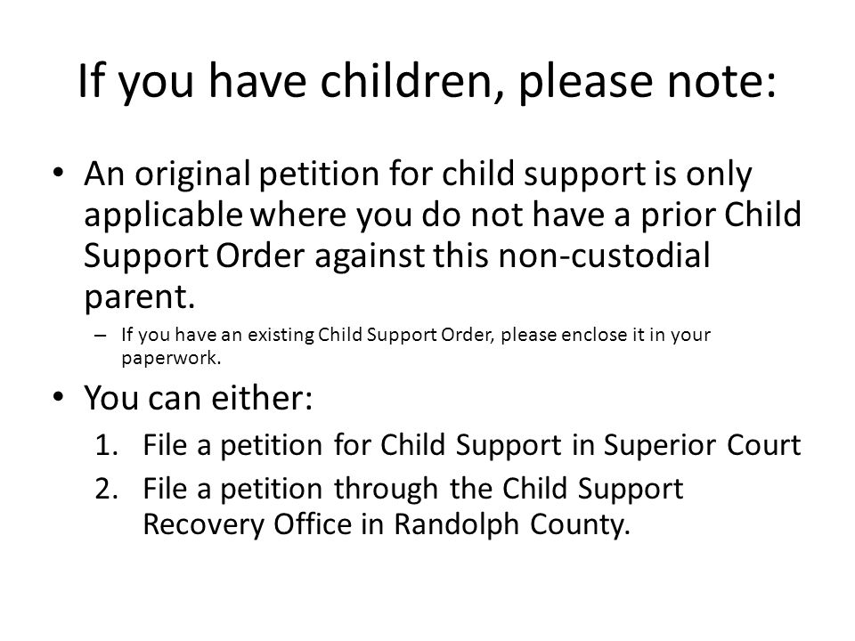 If you have children, please note: