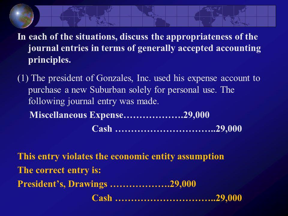 Miscellaneous Expense……………….29,000 Cash …………………………..29,000
